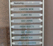 Designer Glass Signs - Standing Sign