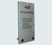 Model 103 - 100mm x 200mm Glass Sign