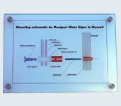 Model 127 - 210mm x 297mm Glass Sign