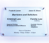Model 128 - 297mm x 420mm Glass Sign