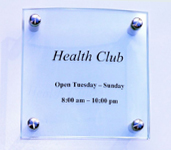 Model 601 - 150mm x 150mm Glass Sign
